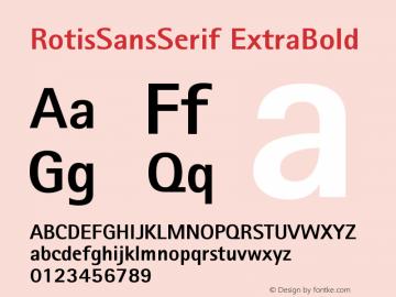 Rotis Sans Serif Extra Bold 75 Version 001.000图片样张