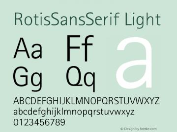 Rotis Sans Serif Light 45 Version 001.000图片样张