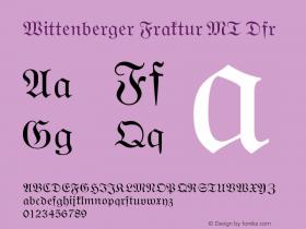 Wittenberger Fraktur MT Dfr Version 001.000图片样张