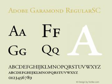 Adobe Garamond Small Caps & Oldstyle Figures Version 001.002 Font Sample