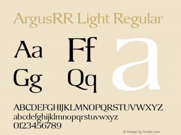 Argus RR Light Version 1.00图片样张