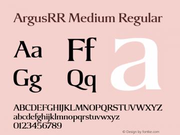 Argus RR Medium Version 1.00图片样张