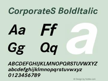 CorporateS-BoldItalic Version 001.004图片样张