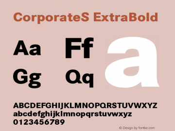 CorporateS-ExtraBold Version 001.004图片样张