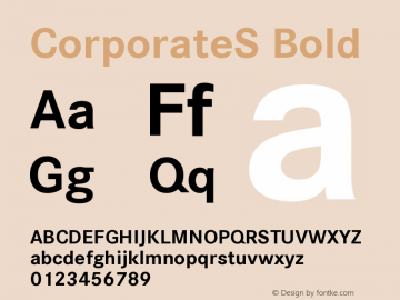 CorporateS-Bold Version 001.004图片样张