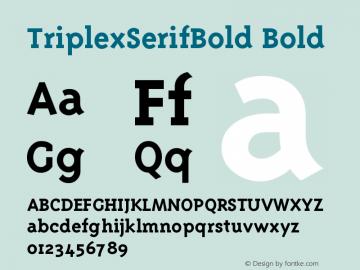 TriplexSerifBold Version 001.000图片样张