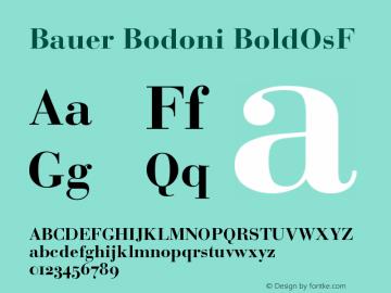 Bauer Bodoni Bold Oldstyle Figures Version 001.001图片样张