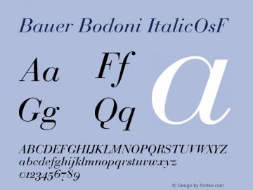 Bauer Bodoni Italic Oldstyle Figures Version 001.001图片样张