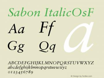 Sabon Italic Oldstyle Figures Version 001.001图片样张