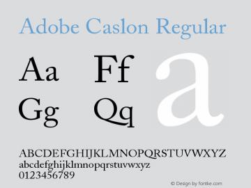 Adobe Caslon Regular Version 001.003图片样张