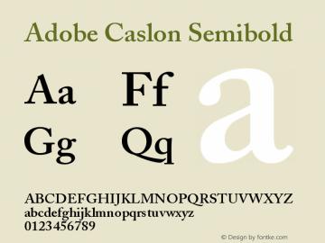 Adobe Caslon Semibold Version 001.003图片样张