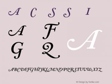 Adobe Caslon Semibold Italic Swash Version 001.002图片样张