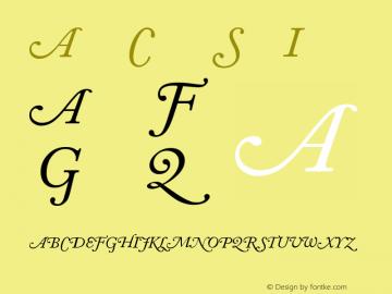 Adobe Caslon Italic Swash Version 001.002图片样张