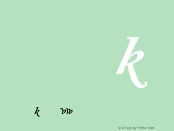 Adobe Caslon Bold Italic Alternate Version 001.002图片样张