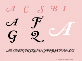 Adobe Caslon Bold Italic Swash Version 001.002图片样张