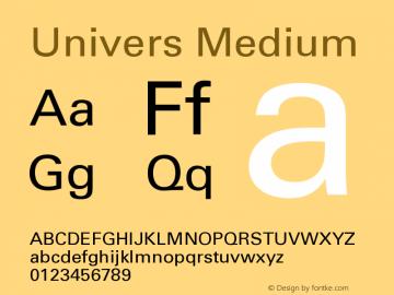 Univers CE 55 Medium Version 001.000 Font Sample