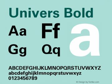 Univers CE 65 Bold Version 001.000 Font Sample