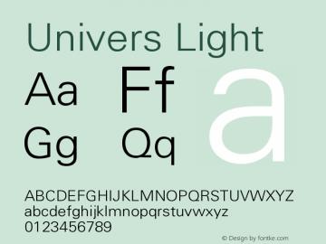Univers CE 45 Light Version 001.000 Font Sample