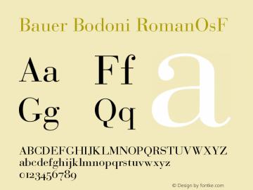 Bauer Bodoni Roman Oldstyle Figures Version 001.000图片样张