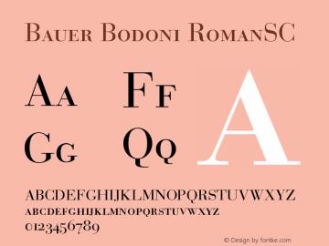 Bauer Bodoni Roman Small Caps & Oldstyle Figures Version 001.000图片样张