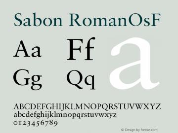Sabon Roman Oldstyle Figures Version 001.000图片样张