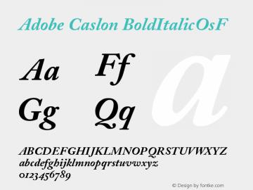 Adobe Caslon Bold Italic Oldstyle Figures Version 001.002图片样张