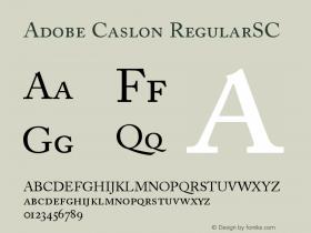 Adobe Caslon Regular Small Caps & Oldstyle Figures Version 001.002图片样张