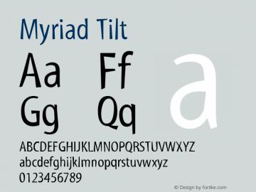 Myriad Tilt Version 001.000图片样张