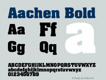 Aachen CE Bold Version 001.000图片样张
