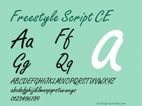 Freestyle Script CE Version 001.000图片样张