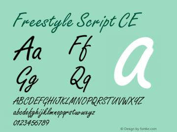 Freestyle Script CE Version 001.000图片样张