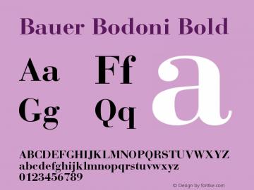 Bauer Bodoni CE Bold Version 001.000图片样张