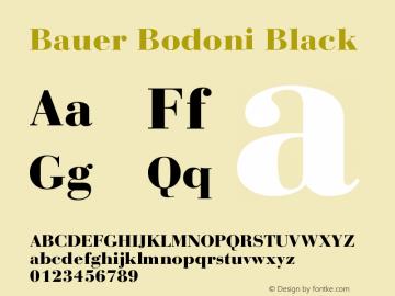 Bauer Bodoni CE Black Version 001.000图片样张