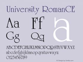 University Roman CE Version 001.000图片样张