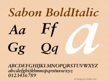 Sabon CE Bold Italic Version 001.002图片样张