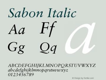 Sabon CE Italic Version 001.002图片样张