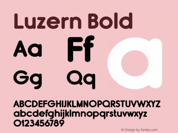 Luzern Bold Version 2.000;com.myfonts.easy.typodermic.rimouski.bold.wfkit2.version.4e1k Font Sample