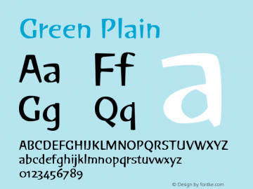 GreenPlain Version 001.000图片样张