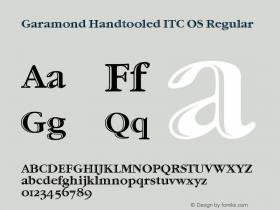 Garamond Handtooled ITC OS Version 001.005图片样张