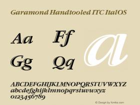Garamond Handtooled ITC Italic OS Version 001.005图片样张