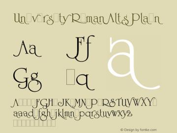 University Roman Alts Font Family University Roman Alts-Sans-serif