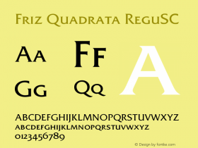 Friz Quadrata Regular SC Version 001.005图片样张