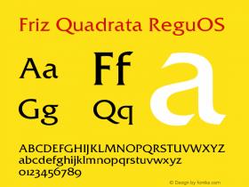 Friz Quadrata Regular OS Version 001.005图片样张