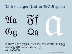 Wittenberger Fraktur MT Version 001.000图片样张