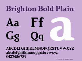 Brighton Bold Plain Version 005.000图片样张