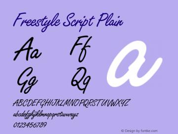 Freestyle Script Plain Version 005.000图片样张