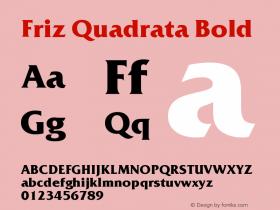 Friz Quadrata Bold Version 005.000图片样张