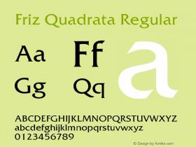 Friz Quadrata Regular Version 005.000图片样张