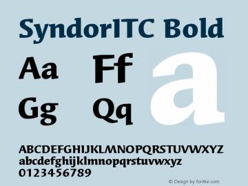 Syndor ITC Bold Version 005.000图片样张