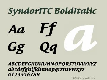 Syndor ITC Bold Italic Version 005.000图片样张